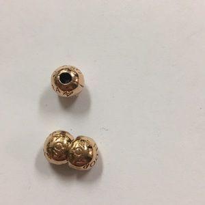 Authentic Pandora rose clips